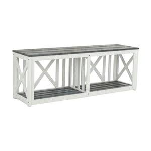 Bílošedá venkovní dřevěná lavice Safavieh Branco Grey