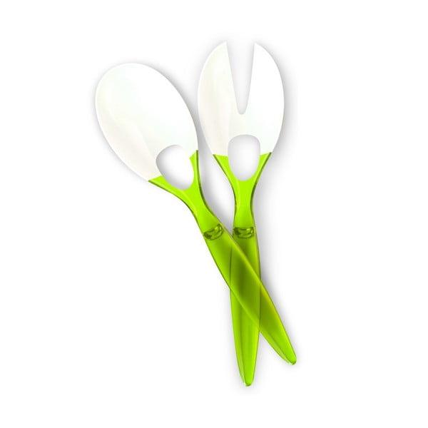 Salátový příbor, zelený