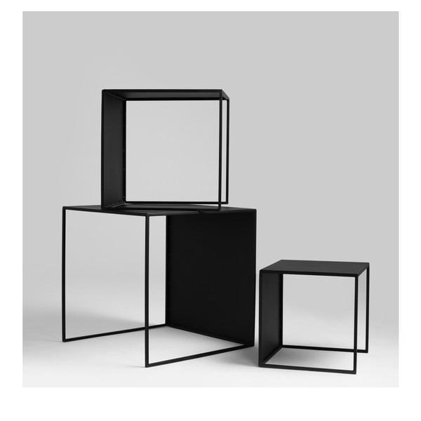 Set 3 măsuțe auxiliare Custom Form 2Wall, negru