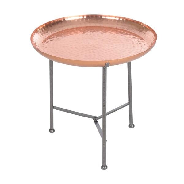 Odkládací stolek s tácem Copper Finish