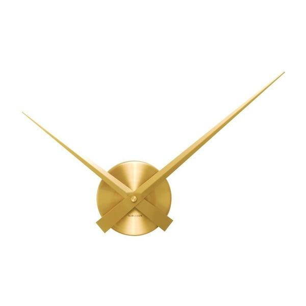 Zlaté nástěnné hodiny Present Time Mini