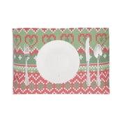 Set 2 suporturi farfurii de Crăciun Apolena Shine Classic, 33 x 45 cm