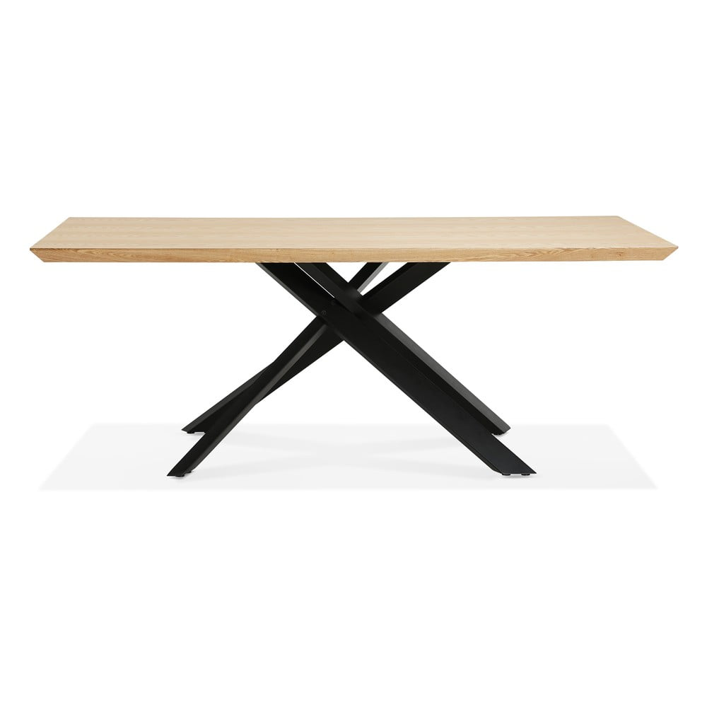 Přírodní jídelní stůl s černými nohami Kokoon Royalty, 200 x 100cm