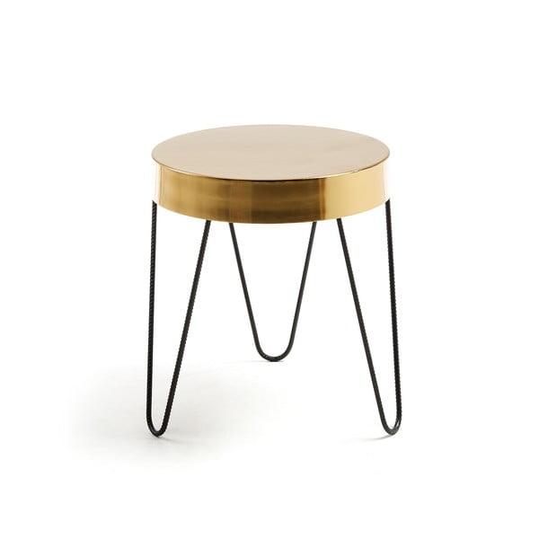Stolik w złotym kolorze La Forma Juvenil, wys. 45 cm