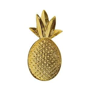 Dekorativní kameninový podnos ve zlaté barvě Bloomingville Ananas