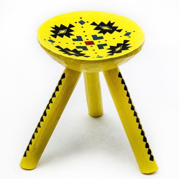 Ručně malovaná stolička Ludos, 28 cm