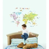 Set autocolante Ambiance World Map for Children
