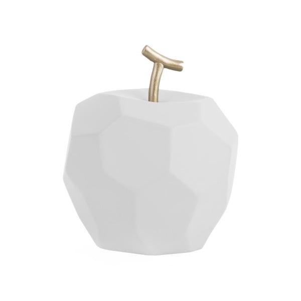 Matne biela betónová soška PT LIVING Origami Apple