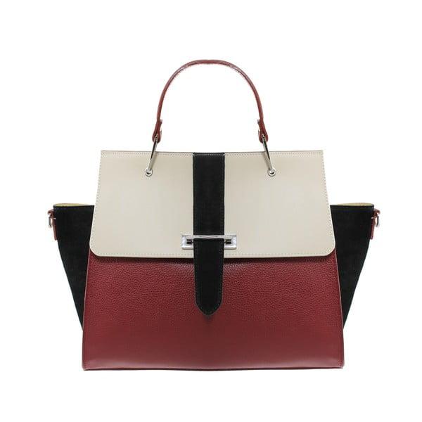 Kožená kabelka Betty Rosso/Beige/Nero