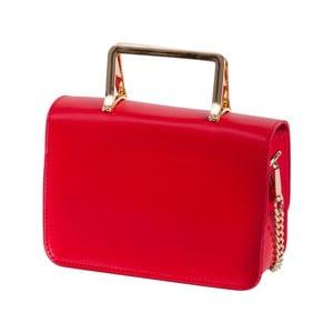 Červená kabelka z pravé kůže Andrea Cardone Emma