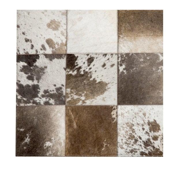 Kožený koberec Natura 140x200 cm, hnědý
