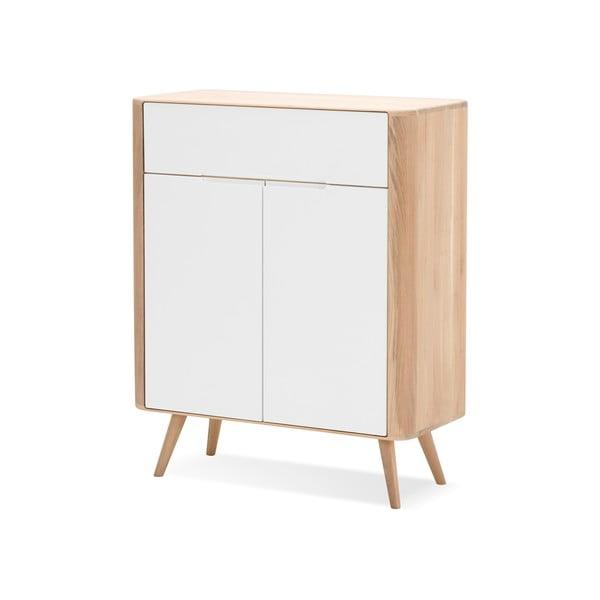 Comodă din lemn de stejar Gazzda Ena One, 90 x 42 x 110 cm