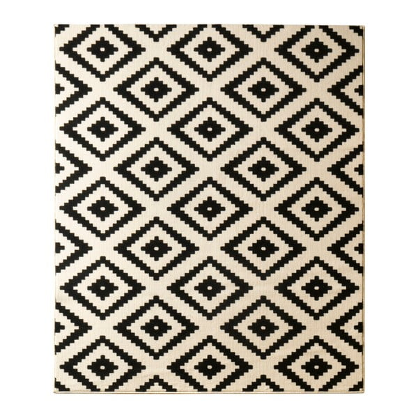 Covor Hanse Home Hamla Diamond Black, 160 x 230 cm, negru