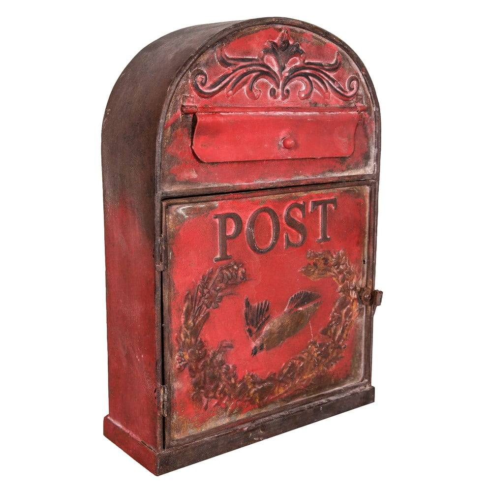 Červená poštovní schránka Antic Line Bordeaux