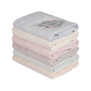 Sada 6 bavlněných ručníků Daireli Micrena, 50 x 90 cm