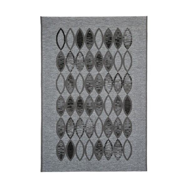 Šedý vysoce odolný koberec vhodný do exteriéru Webtappeti Ethnic, 160x230cm