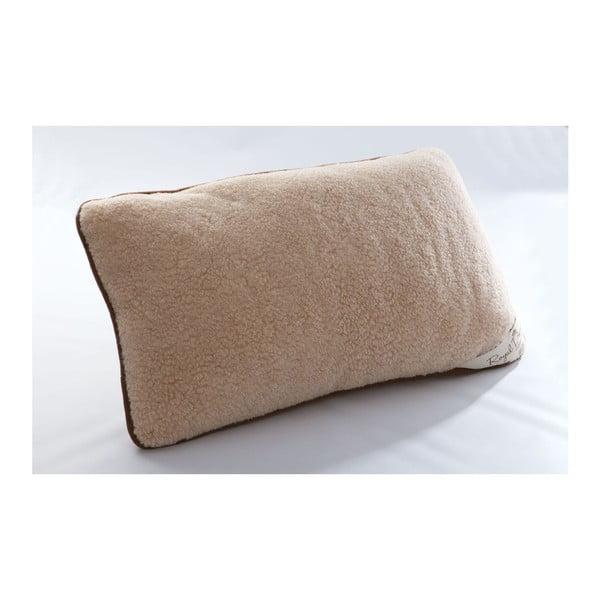 Vlněný hnědý polštář Royal Dream Brown,40x70cm