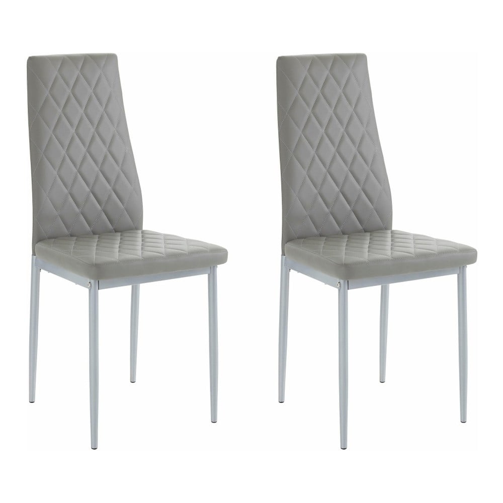 Sada 2 šedých židlí Støraa Barak