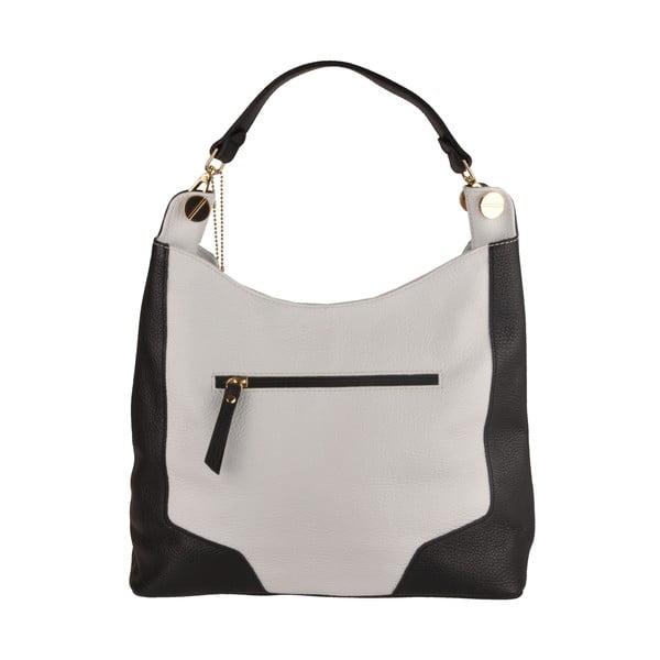 Kožená kabelka Emilio Masi Yala, černá/bílá