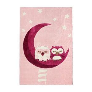 Covor pentru copii Happy Rugs Pink Owls, 120x180 cm