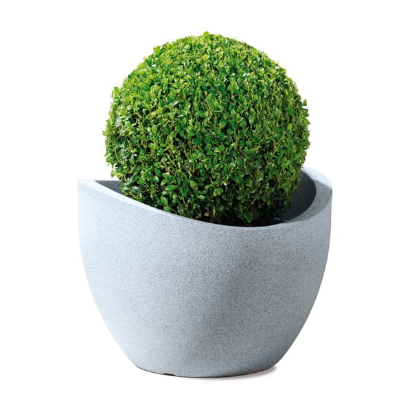 Venkovní květináč Globe 40 cm, světlý