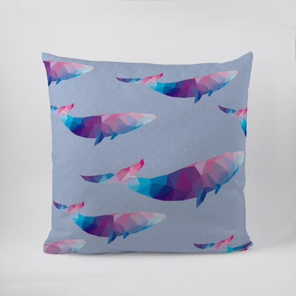 Polštář Origami Whales