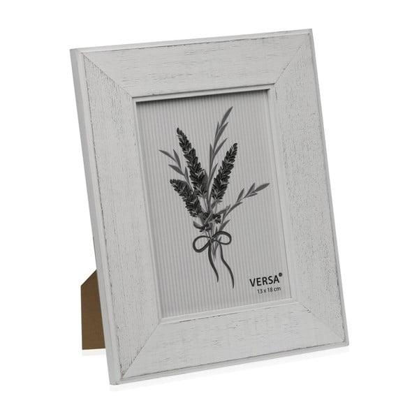 Ramă foto din lemn pentru fotografie Versa Madera Blanco, 13x18cm