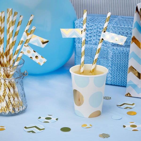 Zestaw 30 niebieskich karteczek ozdobnych na słomki Neviti Pattern Works Zig