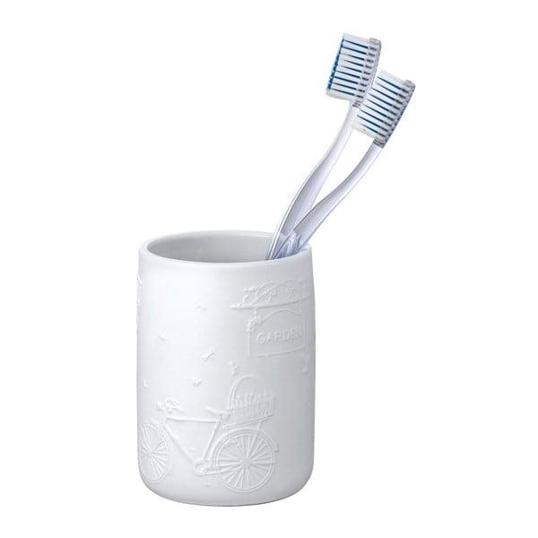 Garden fehér kerámia fogkefetartó pohár - Wenko