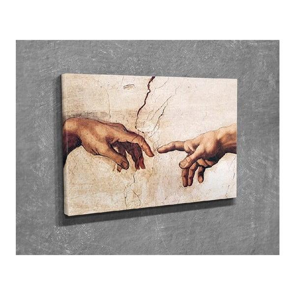 Nástěnná reprodukce na plátně Michelangelo, 40 x 30 cm