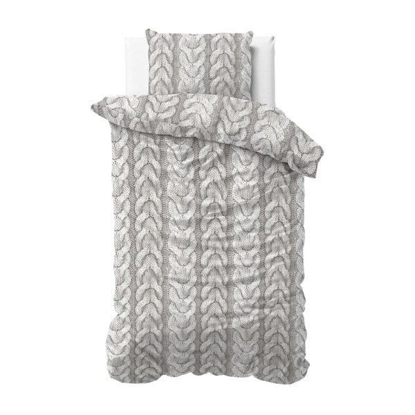 Jednoosobowa pościel flanelowa Zensation Knitted, 140x200 cm