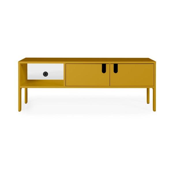 Žlutá TV komoda Tenzo Uno, šířka 137cm