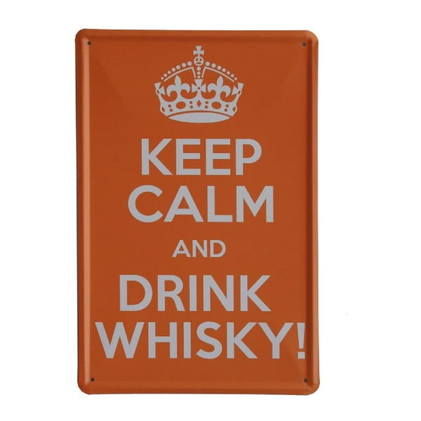 Cedule Drink Whisky, 20x30 cm