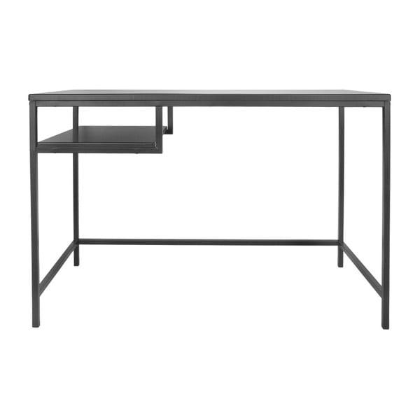 Černý pracovní stůl Leitmotiv Fushion