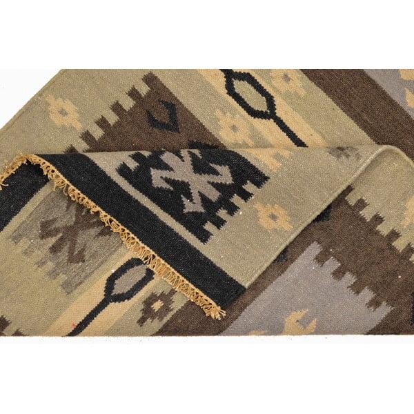 Ručně tkaný koberec Grey Indians, 90x150 cm