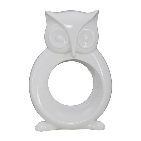 Biela porcelánová dekoratívna soška Mauro Ferretti Gufo Rostand