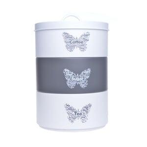Sada 3 úložných dóz Ewax Triple Can Butterfly,16,5x25cm