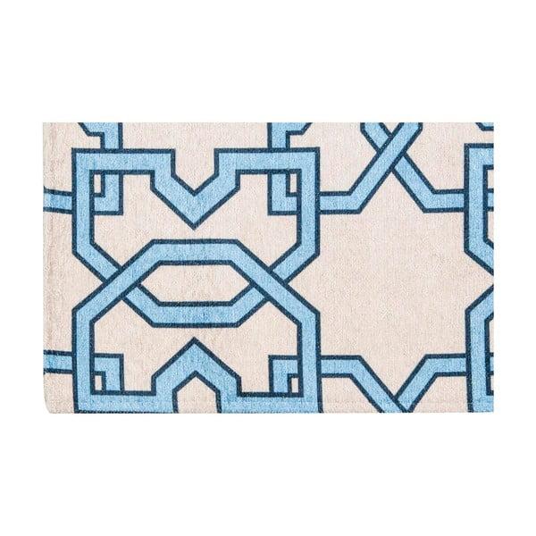 Vysoce odolný kuchyňský koberec Webtappeti Tiles Blue, 60x150 cm