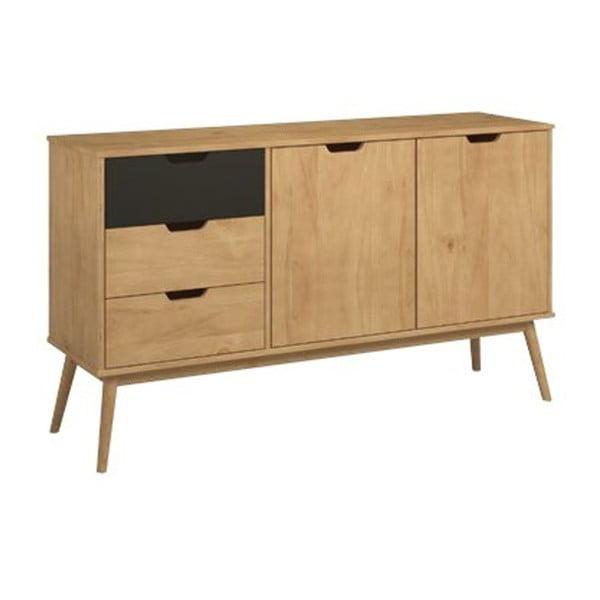 Comodă cu element contrastant gri din lemn de pin SOB Van