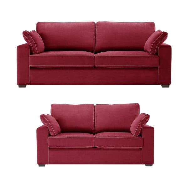 Dvoudílná sedací souprava Jalouse Maison Serena, červená