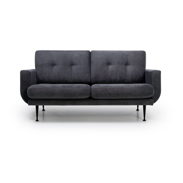 Antracytowa sofa 2-osobowa Softnord Fly Gentle