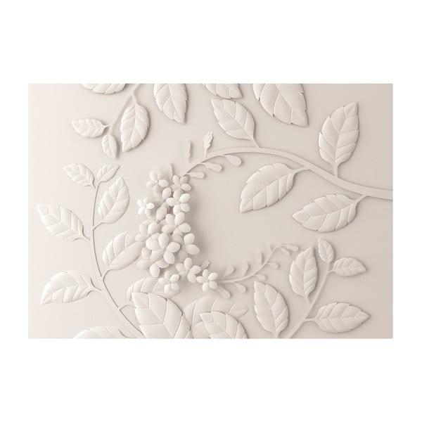 Veľkoformátová tapeta Bimago Cream Paper Flowers, 400 x 280 cm