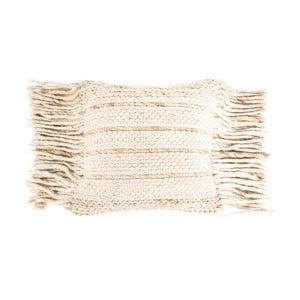 Pernă cu umplutură Zuiver Fringe, 45 x 45 cm, bej