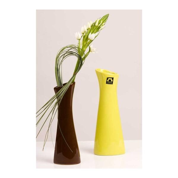 Váza Rhona 23 cm, zelená