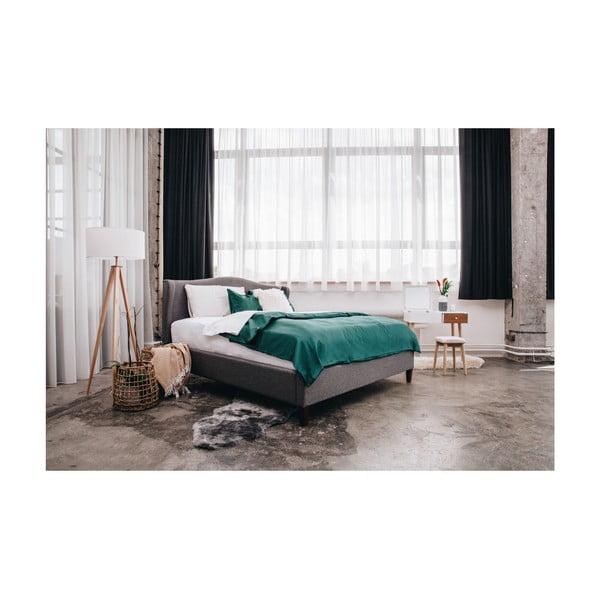 Antracitově šedá dvoulůžková postel Chez Ro Hobro,160x200cm
