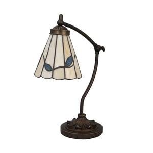 Tiffany stolní lampa Blue Leaves