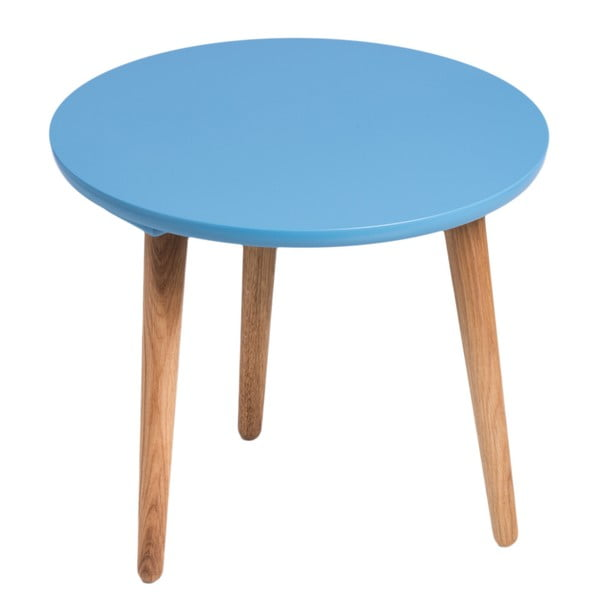 Modrý stůl D2 Bergen, 45 cm