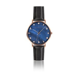 Dámské hodinky s černým páskem z pravé kůže Emily Westwood Daisy