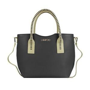 Černá kožená kabelka Lampoo Arina