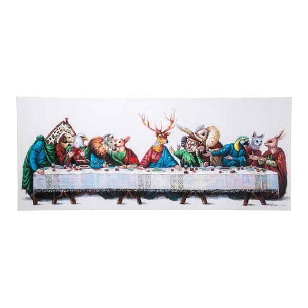 Obraz s ručne maľovanými detailmi Kare Design, Last Supper,100 × 240cm